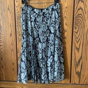 NWOT Metallic lace skirt